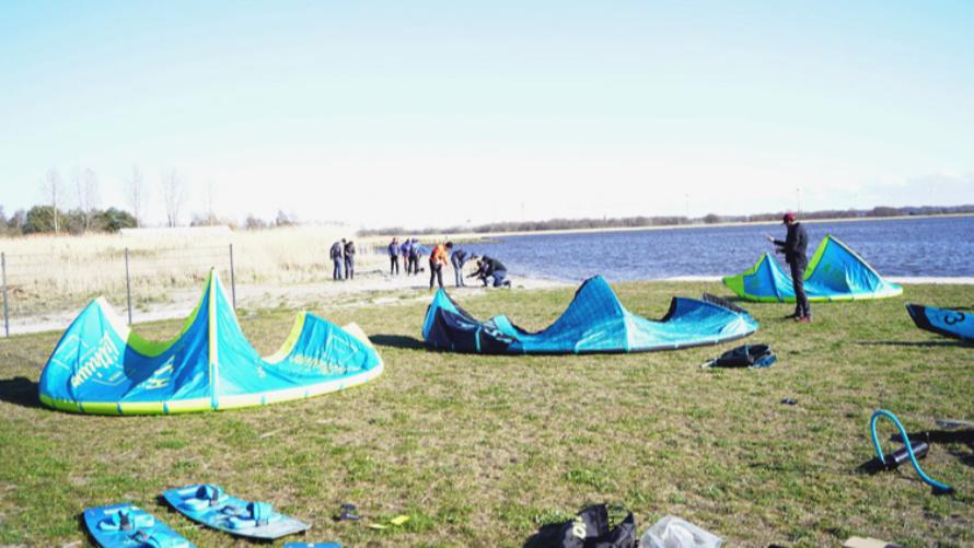 Kurs kitesurfingu uczestników Baltic For All